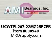 AMI UCWTPL207-22MZ2RFCEB 1-3/8 ZINC SET SCREW RF BLACK TAKE- OPN/CLS COVERS SINGLE ROW BALL BEARING