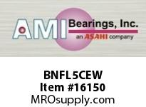 AMI BNFL5CEW 25MM NARROW SET SCREW WHITE 2-BOLT PLASTIC HSG W/C.C & BS