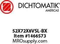 Dichtomatik 52X72X8VSL-BX DISCONTINUED