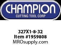 Champion 327X1-8-32 CARBON ROUND DIE STOCK ADJ