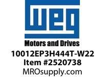 WEG 10012EP3H444T-W22 100HP 1200 3 60 575V TEFC Epact