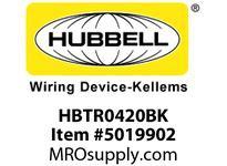 HBL_WDK HBTR0420BK WBPREFORM RADI 90 4^Hx20^W BLACK