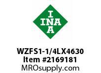 INA WZFS1-1/4LX4630 Linear fast shaft precision