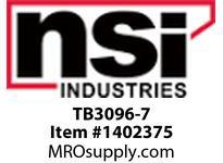 NSI TB3096-7 7 CIRCUIT TERMINAL BLOCK