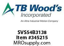 TBWOODS SVS54B3138 SVS-54-B3X1 3/8 ADJ SHEAVE