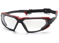 Pyramex SBR5010DT Black-Red Frame/Clear Anti-Fog Lens