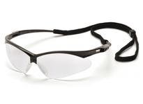 Pyramex SB6310STP Black Frame/Clear Anti-Fog Lens with Black Cord