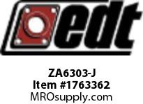 EDT ZA6303-J SS RADIAL BALL BRG W/FG SOLID LUBE
