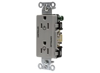 HBL_WDK DR15C2GRY 2/2 CONTROLLED 15A 125V B/S DECO GY