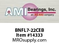 AMI BNFL7-22CEB 1-3/8 NARROW SET SCREW BLACK 2-BOLT PLASTIC HSG W/C.C & BS