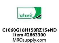 "Habasit C1060G18H150RZ1S+ND 1060/1061-18T X 1-1/2"" Split Sprocket with Keyway and Setscrew"