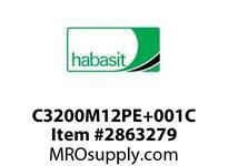 Habasit C3200M12PE+001CE 1200/3200 12T Machined White PE Ext Hub - MPB