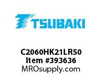 US Tsubaki C2060HK21LR50 C2060H RIV 1L/K-2 50FT