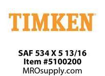 TIMKEN SAF 534 X 5 13/16 SRB Pillow Block Housing Only