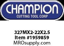 Champion 327MX2-22X2.5 CARBON METRIC ROUND DIE STK ADJ