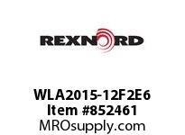 REXNORD WLA2015-12F2E6 WLA2015-12 F2 T6P WLA2015 12 INCH WIDE MATTOP CHAIN W