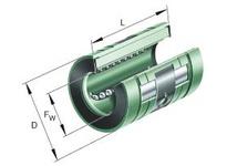 INA KNO12BPP Linear aligning ball bearing