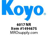 Koyo Bearing 6017 NR SINGLE ROW BALL BEARING