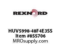 REXNORD HUV5998-48F4E3SS HUV5998-48 F4 T3P SS ROD HUV5998 48 INCH WIDE MATTOP CHAIN W