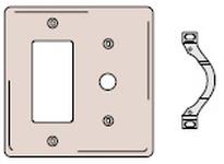 HBL-WDK NP1226BK WALLPLATE 2-G 1) DEC 1) .406 OPNG BK