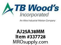 TBWOODS AJ25A38MM AJ25-AX38MM FF COUP HUB