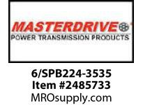 MasterDrive 6/SPB224-3535 6 GROOVE SPB SHEAVE