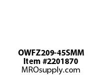 PTI OWFZ209-45SMM 2-BOLT PILOTED FLANGE BEARING-45MM OWFZ 200 SILVER SERIES - NORMAL DUT