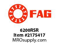 FAG 6200RSR RADIAL DEEP GROOVE BALL BEARINGS