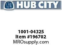 HUBCITY 1001-04325 PB250N X 2S PILLOW BLOCK BEARING