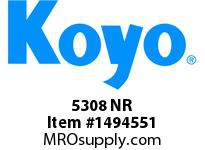 Koyo Bearing 5308 NR DOUBLE ROW BALL BEARING