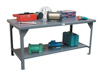 StrongHold T3024-MT Industrial Shop Table 30x24x34 1 Shelves
