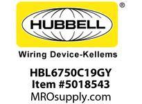 HBL_WDK HBL6750C19GY RACEWAY 19^ COVER HBL6750 SER GY