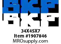 SKFSEAL 34X45X7 CRS15 R SMALL BORE SEALS