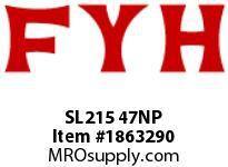 FYH SL215 47NP PILLOW BLOCK-NORMAL DUTY SETSCREW LOCKING-NICKEL PLATED