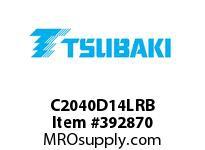 US Tsubaki C2040D14LRB C2040 RIV 4L/D-1