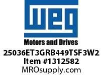 WEG 25036ET3GRB449TSF3W2 250HP 3600 60 460 TEFC-NEMA Pr