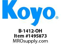 Koyo Bearing B-1412-OH NEEDLE ROLLER BEARING DRAWN CUP FULL COMPLEMENT