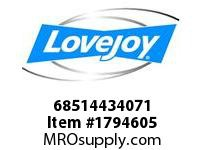 LoveJoy 68514434071 SF BUSHING 9/16 1/8X1/16KW