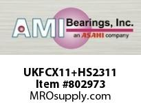AMI UKFCX11+HS2311 1-7/8 MEDIUM WIDE ADAPTER PILOTED F CARTRIDGE SINGLE ROW BALL BEARING