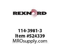 REXNORD 114-3981-3 KU 5936-24T 1-1/2 HEX NYL 142672