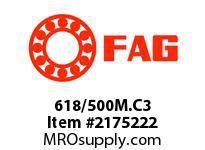 FAG 618/500M.C3 RADIAL DEEP GROOVE BALL BEARINGS
