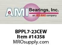 AMI BPPL7-23CEW 1-7/16 NARROW SET SCREW WHITE PILLO PLASTIC PILLOW BLK/O.C&C.C