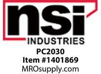 NSI PC2030 2 X 3 SOLID WALL PANEL CHANNEL - COVER INCLUDED