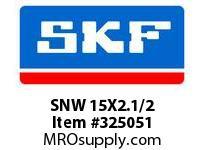 SKF-Bearing SNW 15X2.1/2