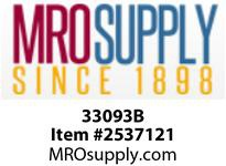 MRO 33093B 1/4 BLACK POLY HB UNION (Package of 20)