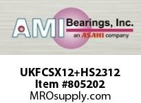 AMI UKFCSX12+HS2312 2-1/8 MEDIUM WIDE ADAPTER PILOTED F CARTRIDGE SINGLE ROW BALL BEARING