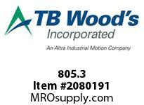 TBWOODS 805.3 HUCO MEDIUM ELEMENT - WHITE