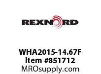 REXNORD WHA2015-14.67F WHA2015-14.67 F1.5 T61P S