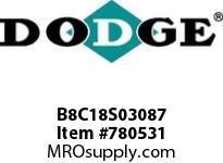 DODGE B8C18S03087 BB883 180-CC 30.87 2^ S SHFT