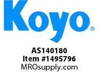Koyo Bearing AS140180 NEEDLE ROLLER BEARING THRUST WASHER